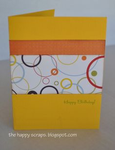 Simple card with a surprise inside.  Cute and easy to do.