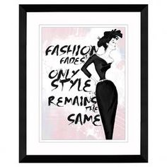 Fashion Fades Framed Giclee Print
