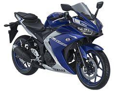 """2017 Yamaha YZF-R25 with new """"Yamaha Blue"""" scheme colour"""