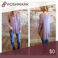 "Tunic... mocha color Beautiful long sleeve tunic.  Super soft 96% rayon 4% spandex.  Bust laying flat 23"" length 32"".  Beautiful detail on sleeves.  Add to bundle to save when purchasing two or more items from my closet. Tops Tees - Long Sleeve"