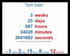 We're SO excited for the Tent Sale on June 20th and 21st!! Are you??