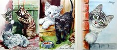 Calling All Kittens c1951 illustrated by Winifred Martin March House Books, rare and vintage books,