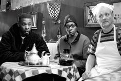 GZA, RZA, and Bill Murray as GZA, RZA, and Bill in Coffee and Cigarettes.