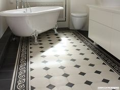 VICTORIAN TILE PATTERNS | Cement floor tile: victorian look B245 - C245 MiraColour