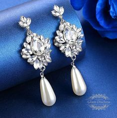 Victorian Inspired Wedding Earrings 14k Gold/Silver Plated