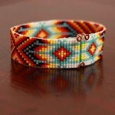 Native American Beaded Bracelet by PuebloAndCo on Etsy, $18.99