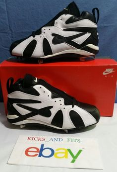 Vtg OG 1994 Nike Air Diamond Fury Ken Griffey Jr Metal Baseball Cleats DS  w/box