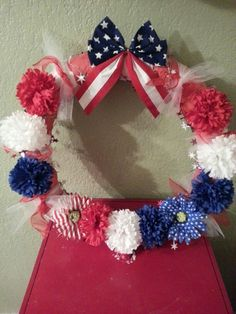 My wreath for the 4th