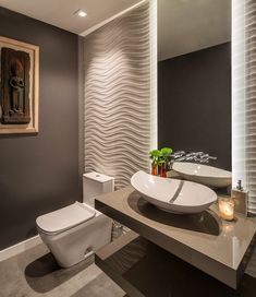 Powder room contemporary design powder room contemporary with vanity mirror mission canyon wall art