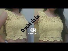 Blusa - Cropped em crochê - passo a passo - YouTube