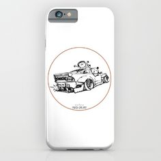 Crazy Car Art 0007 iPhone Case by mame_ozizo Weird Cars, Car Illustration, Kustom Kulture, Old School, Iphone Cases, Drawings, Artwork, Stuff To Buy, Work Of Art