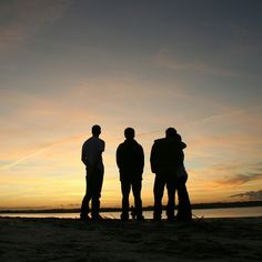 Friends and sunsets n shit.. Wrightsville Beach North Carolina.