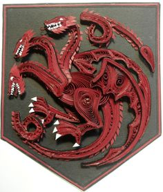 Game of Thrones Paper Quilling - Targaryen Sigil by wholedwarf.deviantart.com on @DeviantArt