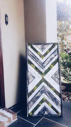 Reclaimed Wood Moss Wall Art