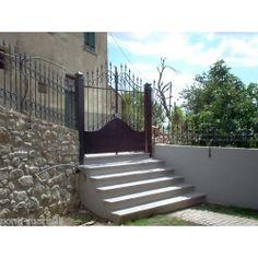 cm 200 x 083 Pedestrian, Wrought Iron, Gate, Applique, Stairs, Design, Home Decor, Ebay, Stairway