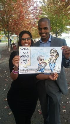 We love proposals. Love Proposal, Proposals, Our Love, Caricature, The Creator, Weddings, Wedding, Wedding Proposals, Caricatures