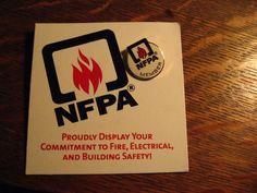 NFPA Lapel Pin - National Fire Protection Association Firefighter Fireman Pin