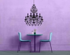 Chandelier  No 2  Removable Vinyl Wall Decal by NicheandNerdy