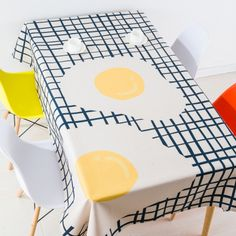 Modern European style coffee table cloth linen tablecloths cover towels thick rectangular antependium decoration fried eggs