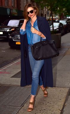 Miranda Kerr from The Big Picture: Today's Hot Pics  Double denim days! The model is spotted in her Canadian tuxedo on the streets of NYC.