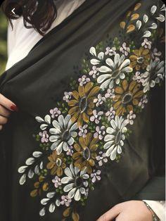 Hand painted shawl …done by Jumana Salfiti.