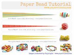 Risultati immagini per free tutorial round paper beads Paper Beads Template, Paper Beads Tutorial, Make Paper Beads, Paper Bead Jewelry, Paper Earrings, How To Make Paper, How To Make Beads, Beading Tutorials, Beading Patterns