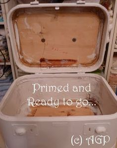 ~VINTAGE TRAIN CASE - Transformed Into a Work of Art~ prime with Zinsser