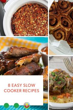 Chicken and dumplings, meatloaf, turkey stew, chili and even a couple of slow cooker dessert recipes! Bison Recipes, Rib Recipes, Barley Recipes, Vegetarian Recipes, Dairy Recipes, Mushroom Recipes, Potato Recipes, Chicken Recipes, Slow Cooker Meatloaf