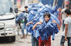 Once a retail and wholesale apparel hub, the southwestern part of Kaliganj in Keraniganj on the outskirts of Dhaka, is facing the business downturn Sustainable Design, Sustainable Fashion, Indigo Plant, Textiles, Fashion Project, Photo Colour, Fast Fashion, Wholesale Clothing, Industrial Style