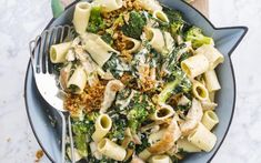 Pasta with broccoli, spinach, chicken and garlic - Pasta with broccoli, spinach, chicken and garlic – Libelle Tasty - Work Meals, Easy Meals, Pasta Met Broccoli, Grilled Corn Salad, Garlic Pasta, Green Bean Recipes, Corn Salads, Cajun Recipes, Happy Foods