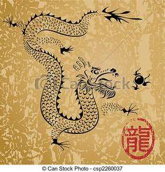 Ancient Chinese Dragon - csp2260037