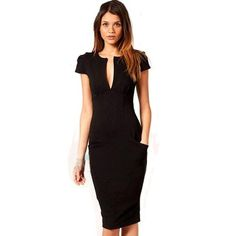 Charming Pencil Dress with Pockets
