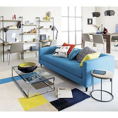 Image Result For Birch Movie Sofa Cb Blake Great Room Pinterest - Cb2 smart glass coffee table