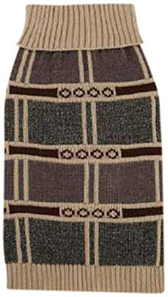 East Side Collection Chenille/Acrylic Chesterfield Dog Sweater, X-Small, Tan >> See this great image  : Dog sweaters