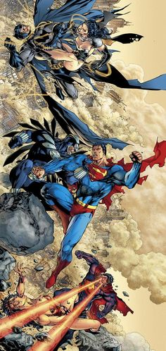 Batman v Superwoman, Superman v Owlman & Wonder Woman v Ultraman by Jim Lee! (DC comics)