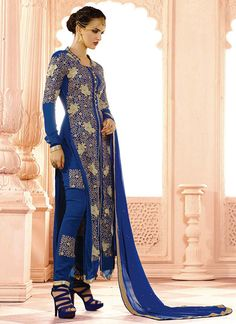 http://www.sareesaga.in/index.php?route=product/product&product_id=22419 Work	:	Embroidered Resham Work Lace	Style	:	Salwar suit Shipping Time	:	10 to 12 Days	Occasion	:	Party Festival Fabric	:	Georgette	Colour	:	Blue For Inquiry Or Any Query Related To Product, Contact :- 91-9825192886, +91-7405449283