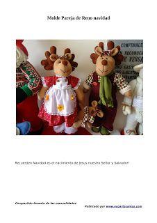 MANUALIDADES Y DETALLES: PAREJA RENOS Elf On The Shelf, Teddy Bear, Baseball Cards, Christmas Ornaments, Toys, Holiday Decor, Animals, Salvador, Html