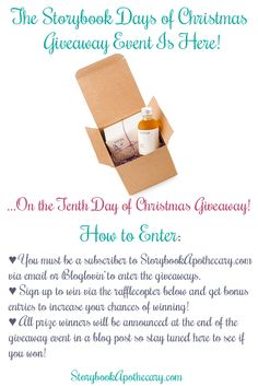 Storybook Days of Christmas Giveaway Event: On the Tenth Day of Christmas... Enter to win Osmia Organics A Perfect Pair Gift Set on StorybookApothecary.com! Click through to enter>> #storybookdaysofxmas #greenbeauty #beauty #skincare