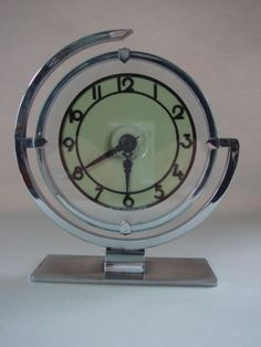 Art Deco Table Clock | Raddest Men's Fashion Looks On The Internet: http://www.raddestlooks.org