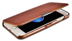 iCarer iPhone 7 Plus Vintage Series Side Open Genuine Leather Case