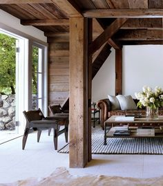 Modern country post and beam