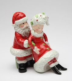 4 Inch Santa Holding Mrs. Claus Salt And Pepper