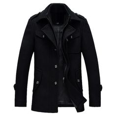 Shop a great selection of MODOQO Men's Long Trench Coat Winter Warm Business Pea Coat Overcoat Jacket. Find new offer and Similar products for MODOQO Men's Long Trench Coat Winter Warm Business Pea Coat Overcoat Jacket. Winter Trench Coat, Wool Trench Coat, Men's Coats And Jackets, Jackets Online, Casual, Mens Fashion, Fashion Shirts, Fashion Ideas, Moda Masculina