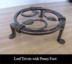 Leaf Trivets wtih Penny Foot