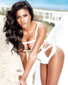 Leila Lopes--Maxim Portugal cover model Leila Lopes is best known for her 2012 Miss Universe win. Rightfully deserved, as you can see.