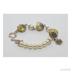 glass pearl bead bracelet made by Chong from Pandahall.com