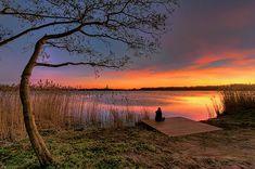 Sunset at Amstelveen, The Netherlands.