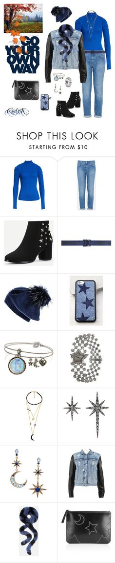 """""""Blue, Black, Stars"""" by cody-k ❤ liked on Polyvore featuring Free People, STELLA McCARTNEY, Off-White, Black, Wildflower, Sweet Romance, Chanel, WithChic, Federica Tosi and Betsey Johnson"""