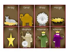 Nativity Memory Game Printable also Nativity story for older kids and toddlers.  So awesome!