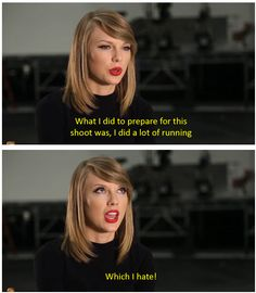 """Shake It Off"" outtakes // Taylor Swift is a girl after my own heart... ;)"